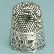 Antique Sterling Silver Columbian Exposition Thimble by Simons Bros * Circa 1892