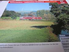 Archiv  Eisenbahnstrecken 673 Kaiserslautern Lauterecken Grumbach Lautertalbahn