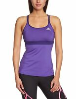 adidas Women's Strappy Vest Training Top Climacool Wicking Fabric Gym Run Sport