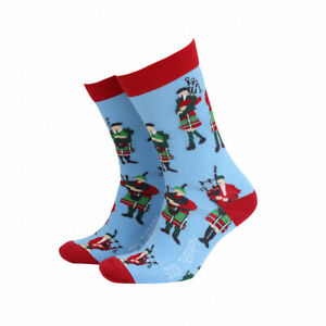 Mens Bagpipe Scottish Gift Socks from Sock Therapy by Smiling Faces