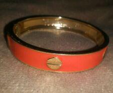 Nail Cuff Bracelet Orange and Gold Screw