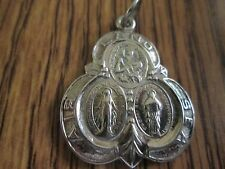 VINTAGE RELIGIOUS MILITARY MEDAL LAND SEA AIR  LOT A4