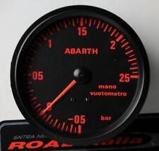 Manometro Strumento Road Italia Abarth Delta Pressione Turbo -1 +2,5 BAR 80mm