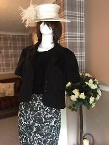 mother of the bride Groom Size 18 Next wedding guest dress jacket hat