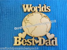Worlds Best dad hanging sign MDF 150 x 150mm