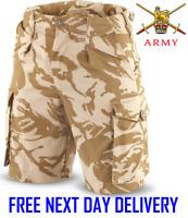 GENUINE BRITISH ARMY DESERT DPM COMBAT SHORTS Camouflage issue DISRUPTIVE DDPM