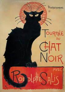 Theophile Alexandre Tournee du Chat Noir Poster Reproduction Giclee Canvas Print
