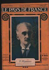 WWI Portrait Paul Hymans Ixelles Bruxelles Ministre Belgique 1919 ILLUSTRATION