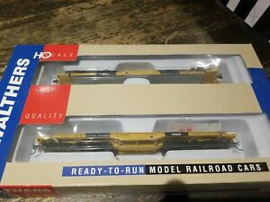 Walthers Ho 66' Heavy Duty 4 Truck Flat Cars TWO 2 PACK TTX RELISTED