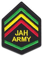 JAH ARMY Reggae Jamaica Rasta-Fari Jamaika Aufnäher Patch Bügelbild Aufbügler