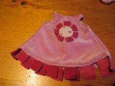 robe velours rose pour poupée 36 cm