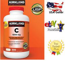 Kirkland Signature Vitamin C 1000 mg, 500 Tablets,***USP Verified**