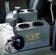 2 MILITARY  HUMVEE CUP HOLDER / CENTER CONSOLE  M998 HMMWV AMMO CAN