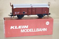 KLEIN MODELLBAHN 3266 SNCF GÜTERWAGEN STEEL SIDED COVERED MINERAL WAGON 90128 ni