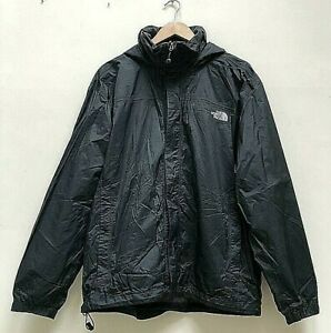 ✅Men's The North Face Black ✅Hyvent Light Weight Hooded Rain Jacket  Size Large✅