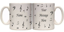 MUSIC NOTES PERSONALISED MUG (I2) OTHER GIFT MUGS AVAILABLE