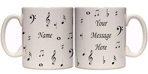 MUSIC NOTES PERSONALISED MUG (I2) OTHER GIFT MUGS AVAILABLE