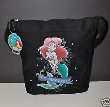 PRINCESS ARIEL THE LITTLE MERMAID TOTE BAG PURSE HANDBAG LA SIRENITA BLACK GYM B