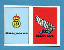 AUTO E MOTO - Figurina-Sticker n. 337+334 - HUSQVARNA - HONDA -New