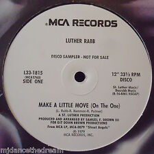 "LUTHER RABB ~ Make A Little Move {On The One} ~ 12"" Single USA PRESS SAMPLER"