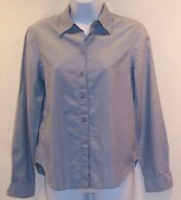Jones New York Womens Juniors Blue Dress Long Sleeve Blouse Top Shirt 4 Silk!
