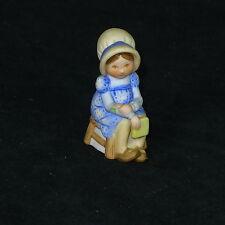 "Holly Hobbie Figurine 3"" Tall Blue Dress"