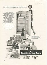 Kelvinator Refrigerator Fridge £99 Get So Much More 1959 Retro Vintage Advert