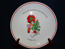 """10.75"""" porcelain MOPSIE Christmas 1973 collector's PLATE"""
