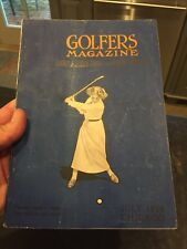 Scarce Juky 1914 Golf Magazine With Woman Golfer On Cover