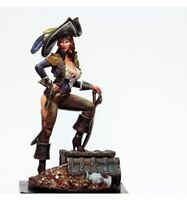 1/24 75mm Resin Figure Model Kit Sexy Girl Legendary Pirate Anna Bonny Unpainted