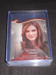 The Vampire Diaries Season 1 Insert Trading Card #D06 Sara Canning as Jenna