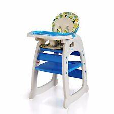 Hochstuhl Kinderhochstuhl mit Tablett Babyhochstuhl Stuhl 3 in1  blau