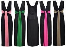 Casual V Neck Full Length Dresses Plus Size for Women