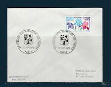FRd  enveloppe Fleurs  congrès protection des plantes 75 Paris   1970