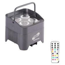 ETEC Akku LED Scheinwerfer E412 4x12W RGBWA+UV Fernbedienung Floorspot Uplight