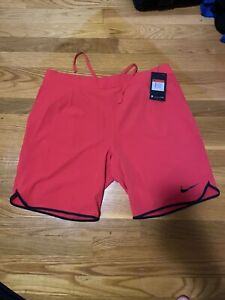 Nike Court Flex Tennis Shorts Red 728980-653 Mens Size Large