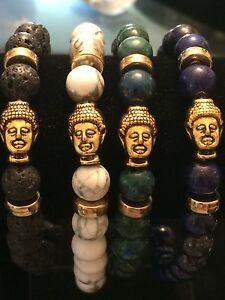 NATURAL STONE CHAKRA & TIBETAN BUDDHA HEAD MEDITATION,HEALING,STACKABLE,