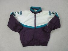VINTAGE Starter Anaheim Ducks Jacket Youth Small White Purple NHL Hockey Boys *