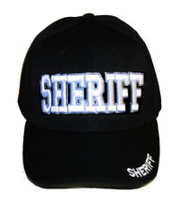 Delux Military Law Enforcement Cap Hat, Sheriff Black