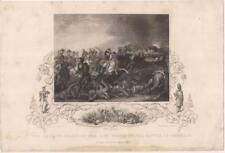 Artist Clennel Decisive Charge Battle Of Waterloo 1890s Print J Rogers Engraving