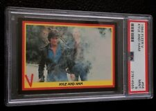 1984 Fleer V The Series PSA 9 #56 Mike And Ham Enemy Visitors 80s TV Show Alien