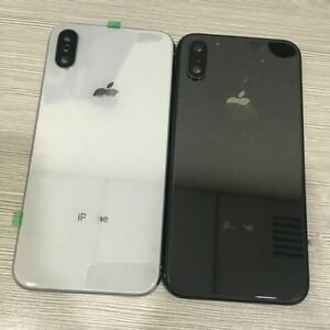 For iPhone X Replacement Rear Door Full Metal Back Battery Glass Housing & Logo