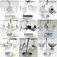 Silver Metal Rotating Spinner Carousel Candle Tea Light Holder Table Xmas Decor