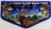 EL-KU-TA OA LODGE 520 GREAT SALT LAKE COUNCIL UTAH 508 535 407 UT 1996 NOAC FLAP