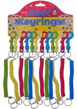 12 X Spiral Stretchy Retractable Springy Keyring Keychain 12 SUPPLIED