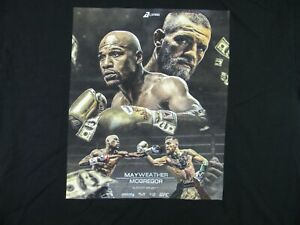 2017 Mayweather Vs McGregor Boxing Graphic Men's Promo Tee Size Large UFC