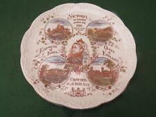 ANTIQUE QUEEN VICTORIA DIAMOND JUBILEE COMMEMORATIVE PLATE 1897