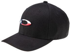 Oakley Black Tincan Texas Flag Edition Hat Flex Fit Size Large/XL
