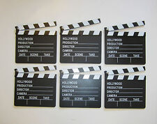 6 NEW MOVIE DIRECTOR'S CLAPBOARD PROP HOLLYWOOD CLAPPER CHALKBOARD PARTY DECOR