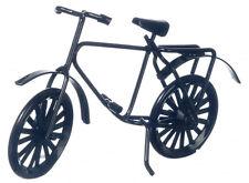 Pequeño Childs Negro De Bicicleta, casa de muñecas en miniatura, miniaturas, Bicicleta,